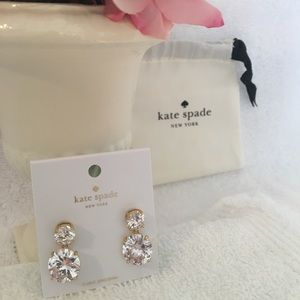 Kate Spade Drop Crystal Earrings ~ New Style~ NWT
